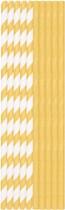 Papírová brčka bio zlato-bílá 20 ks 20 cm