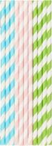 Papírová brčka bio barevné mix barev 20 ks 20 cm