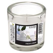 Vonná svíčka Fresh Linen ve skle ELEGANT