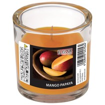 Vonná svíčka Mango-Papaya ve skle ELEGANT