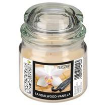 Vonná svíčka Sandalwood-Vanilla ve skle s víkem