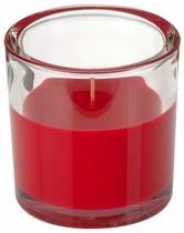 Svíčka ve skle Elegant červená 10/10 cm