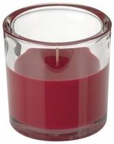 Svíčka ve skle Elegant bordová 10/10 cm