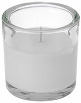 Svíčka ve skle Elegant bílá 10/10 cm