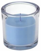 Svíčka ve skle Elegant světle modrá 10/10 cm