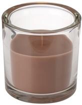 Svíčka ve skle Elegant hnědá 10/10 cm