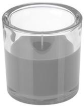 Svíčka ve skle Elegant šedá 10/10 cm
