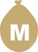 Balónek písmeno M zlaté