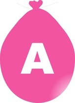 Balónek písmeno A růžové