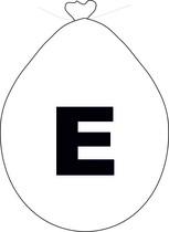 Balónek písmeno E bílé