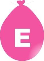 Balónek písmeno E růžové