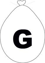 Balónek písmeno G bílé