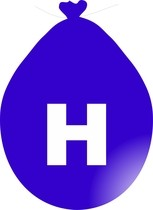 Balónek písmeno H modré