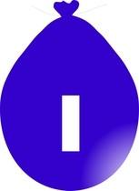 Balónek písmeno I modré