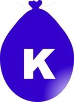 Balónek písmeno K modré