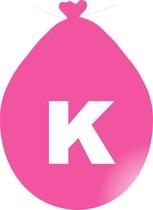 Balónek písmeno K růžové