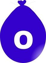 Balónek písmeno O modré