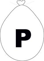 Balónek písmeno P bílé