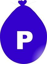 Balónek písmeno P modré