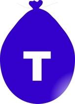 Balónek písmeno T modré