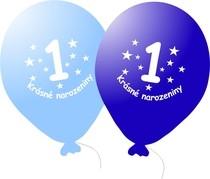 Narozeninové balónky modré s potiskem 1 - 5 ks