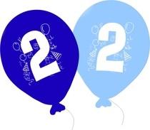 Balonky narozeniny 5ks s číslem 2 pro kluky