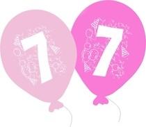 Balonky narozeniny 5ks s číslem 7 pro holky