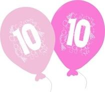 Narozeninové balónky pro holčičí párty. Narozeninové balónky pro oslavu 10 narozenin.