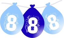 Narozeninové nafukovací balónky modré 8