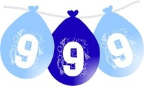 Narozeninové nafukovací balónky modré 9