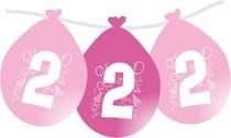 Narozeninové balónky růžové visící