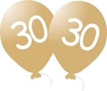 Narozeninové balónky 30 zlatý 5 ks