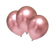 Balónky chromové růžovo-zlaté 6 ks 30 cm
