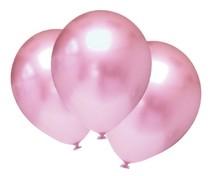 Balónky chromové světlerůžové 6 ks 30 cm