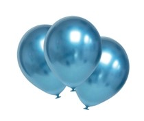 Balónky chromové modré 6 ks 30 cm