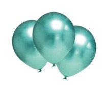 Balónky chromové zelené 6 ks 30 cm
