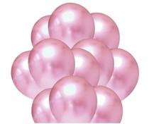 Balónky chromové světlerůžové 20 ks 30 cm