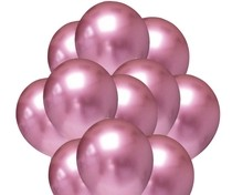 Balónky chromové růžové 20 ks 30 cm