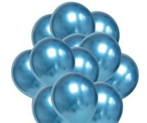 Balónky chromové modré 20 ks 30 cm