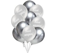 Krásné narozeniny balónky stříbrné 10 ks 30 cm mix