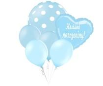 Balónky puntíky set Krásné narozeniny! srdíčko