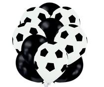 Set balónků fotbal černé+bílé s potiskem
