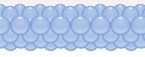 Balónková girlanda světle modrá 3 m