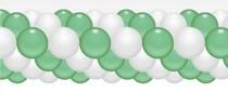 Balónková girlanda mint zeleno-bílé 3 m
