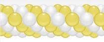 Balónková girlanda žluto-bílá 3 m