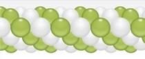 Balónková girlanda světlezeleno-bílé 3 m