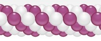 Balónková girlanda tmavěrůžovo-bílá 3 m