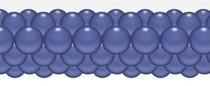 Balónková girlanda modrá chrpa 3 m