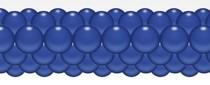 Balónková girlanda tmavá modrá 3 m