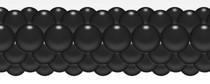 Balónková girlanda černá 3 m